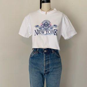 Brandy Melville crop Helen New York embroidered to